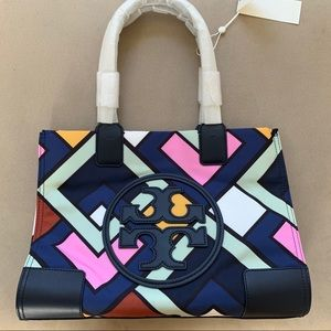 Tory Burch Ella Printed Mini Tote-Picnic Box Bias